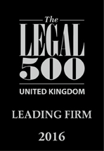 Rainscourt Family Law Solicitors recognised as a leading firm in 2016